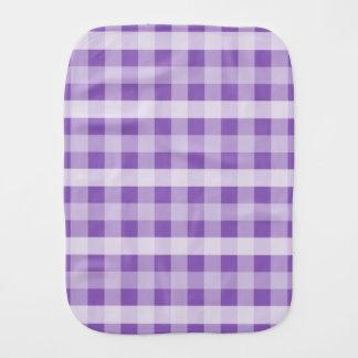 Purple Plaid Baby Burp Cloth