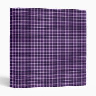 """Purple Plaid Binder 1"""""""