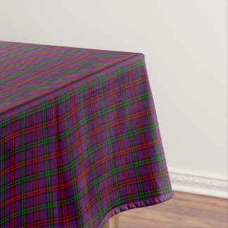 Purple Plaid Clan Montgomery Tartan Tablecloth