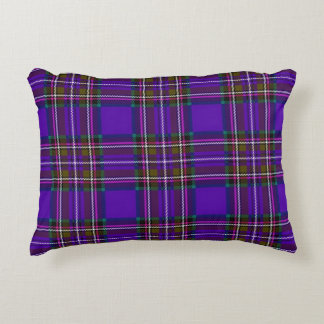 Purple Plaid Decorative Pillow