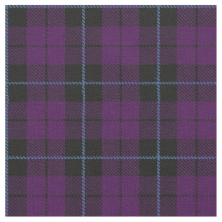 Purple Plaid fabric with blue stripe print