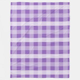Purple Plaid Fleece Blanket