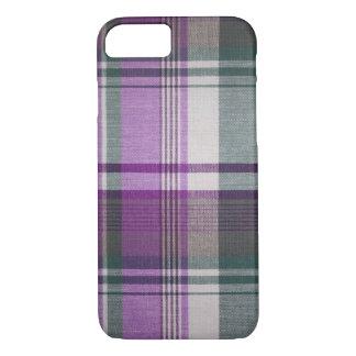 Purple Plaid iPhone 7 Case
