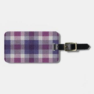 Purple Plaid Luggage Tag