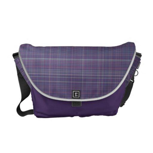 Purple Plaid Courier Bags