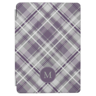 purple plaid pattern monogrammed