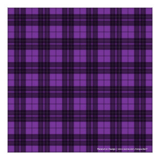 Purple Plaid Poster