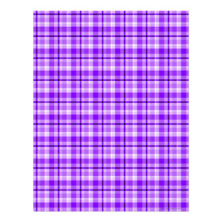 Purple Plaid Scrapbook Paper