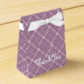 Purple plaid Tent Favor Box