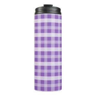 Purple Plaid Thermal Tumbler