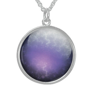 Purple Planet Sterling Silver Necklace