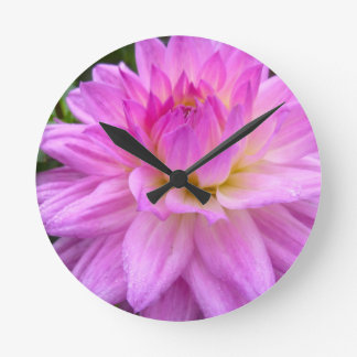 Purple Pleasure Round Clock