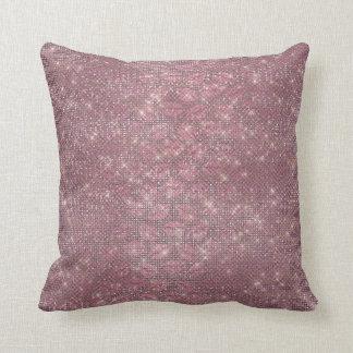 Purple Plum Amethyst Glitter Lips Kiss Makeup Throw Pillow