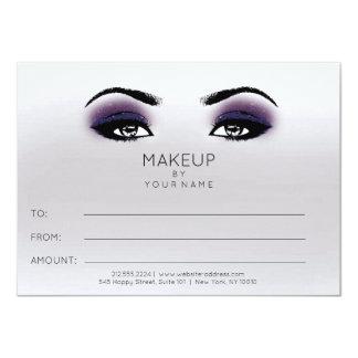 Purple Plum Gray Makeup Beauty Certificate Gift Card