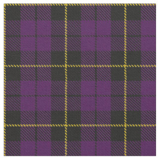 Purple/Plum plaid yellow/gold/black stripe Fabric
