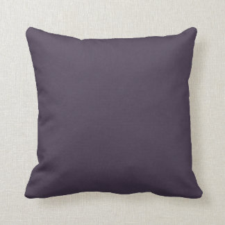 Purple Plum Solid Accent Color Throw Pillow