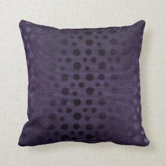 Purple Plum Stripes 3D Dots Contemporary Throw Pillow
