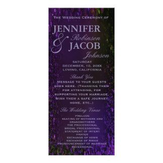 Purple Plum Wedding Program Customized Rack Card