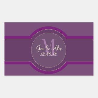 Purple Plum Wedding Wine Labels