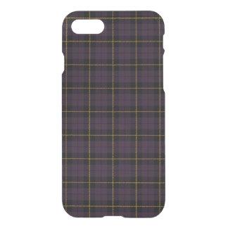 Purple plum, with yellow black stripe plaid iPhone 8/7 case