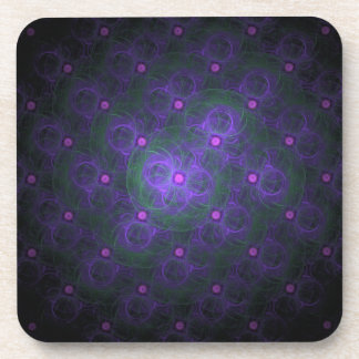 Purple Poka Dot Coaster