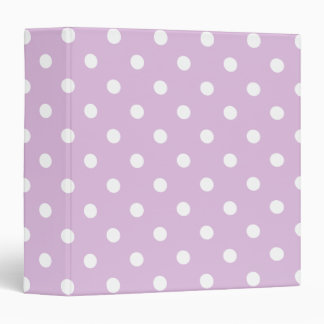 Purple Polka Dot 3 Ring Binders