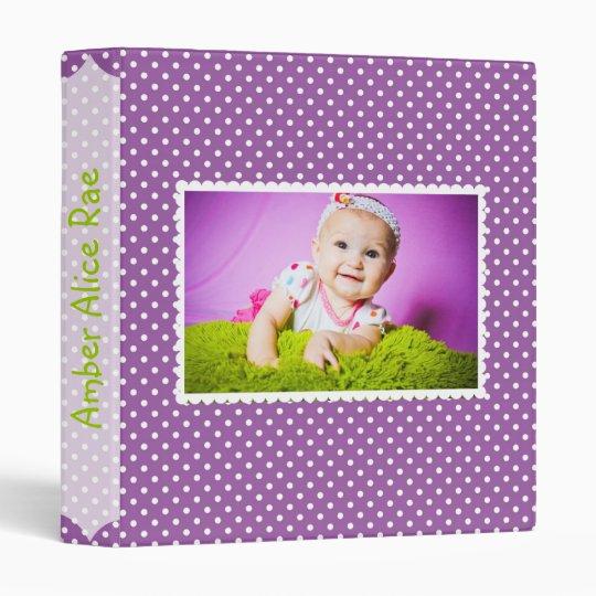 Purple Polka Dot Baby Album Vinyl Binders