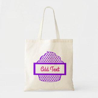 Purple Polka Dot Cupcake tote