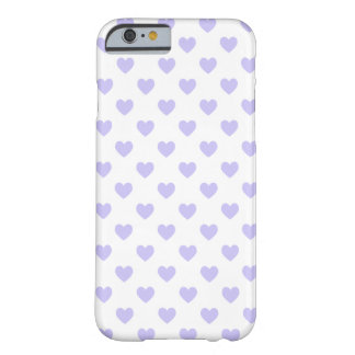 Purple Polka Dot Hearts Barely There iPhone 6 Case