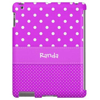 Purple Polka Dot iPad Case