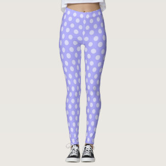 Purple Polka-dot Leggings