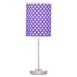 Purple polka dot pattern desk lamps