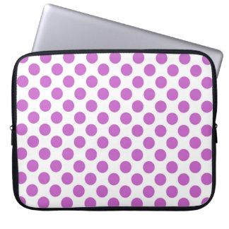 Purple polka dot pattern laptop sleeve