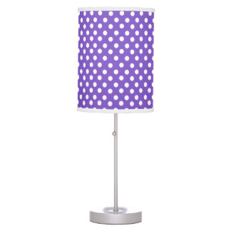 Purple polka dot pattern table lamp