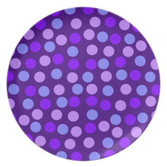 Purple Polka Dot Plate