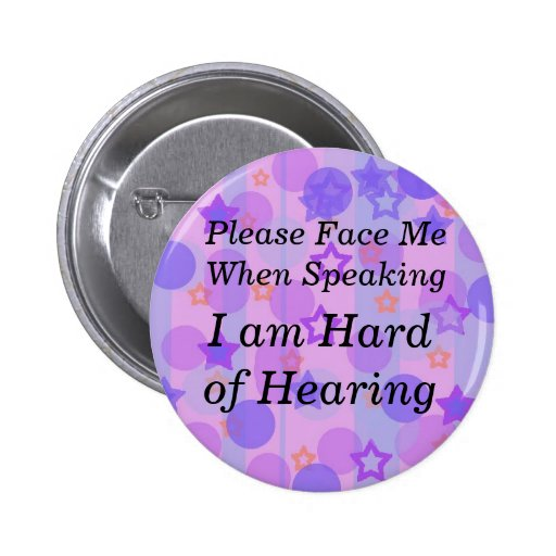 Purple Polka Dot Please Face Me Button