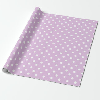 Purple Polka Dot Wrapping Paper