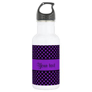 Purple Polka Dots 532 Ml Water Bottle