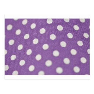 Purple polka dots and jewelry postcard