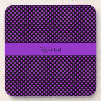 Purple Polka Dots Coaster