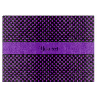 Purple Polka Dots Cutting Board