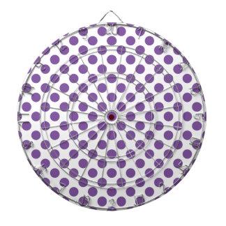 Purple Polka Dots Dartboard