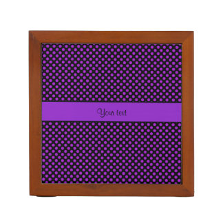 Purple Polka Dots Desk Organizer