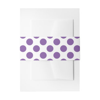 Purple Polka Dots Invitation Belly Band