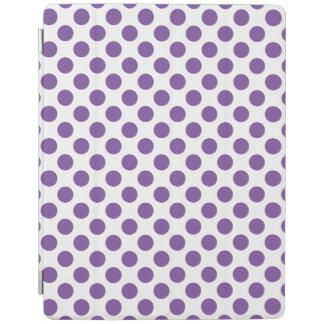 Purple Polka Dots iPad Cover