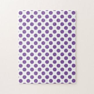 Purple Polka Dots Jigsaw Puzzle