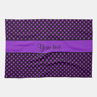 Purple Polka Dots Kitchen Towel