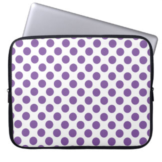 Purple Polka Dots Laptop Sleeve
