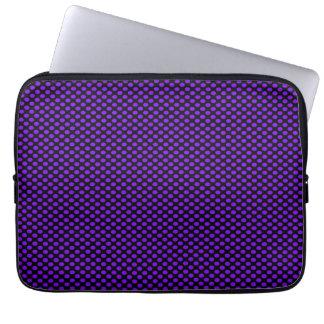 Purple Polka Dots on Black Laptop Sleeve