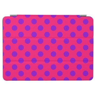 Purple polka dots on cerise iPad air cover